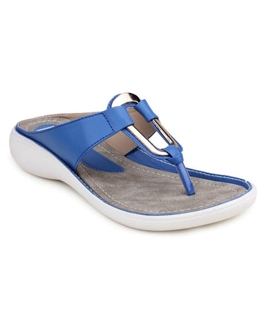DIGNI Blue Color Synthetic Women Flats - DWF-B-8-BLUE