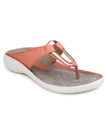 DIGNI Orange Color Synthetic Women Flats - DWF-B-8-ORANGE