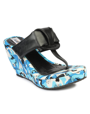 DIGNI Black Color Synthetic Women Wedges - DWF-FU-1-BLACK