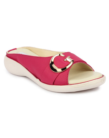 DIGNI Pink Color Synthetic Women Flats - DWF-GB-PINK