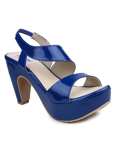 DIGNI Blue Color Synthetic Women Heels - DWF-R-1-BLUE