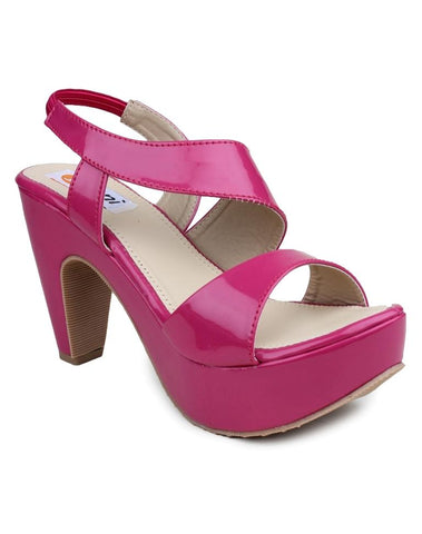 DIGNI Pink Color Synthetic Women Heels - DWF-R-1-PINK
