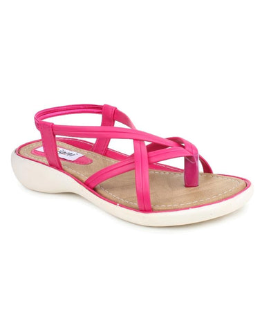 DIGNI Pink Color Synthetic Women Flats - DWF-Z-3-PINK