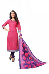 Pink Color Cotton  Stitched Salwar  - Dangal-4003
