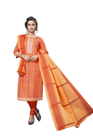 Orange Color Cotton  Stitched Salwar  - Dangal-4005