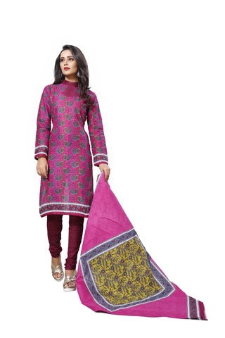 Pink Color Cotton  Stitched Salwar  - Dangal-4008