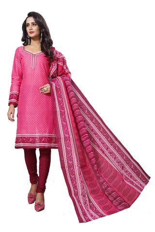 Pink Color Cotton  Stitched Salwar  - Dangal-4009