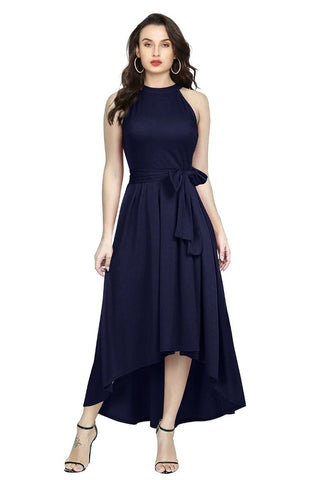 Blue Color Rayon Women's Gown - Deltin_S-26_Blue