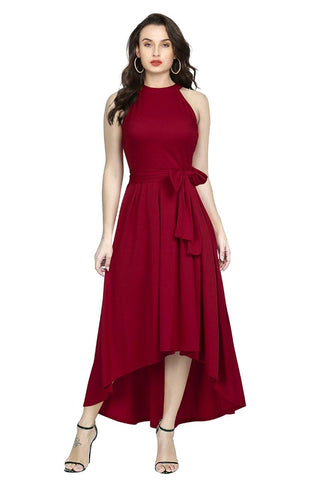 Maroon Color Rayon Women's Gown - Deltin_S-27_Maroon