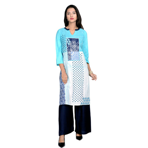 Multi Color Cotton printed Kurti - Design-35-Multi