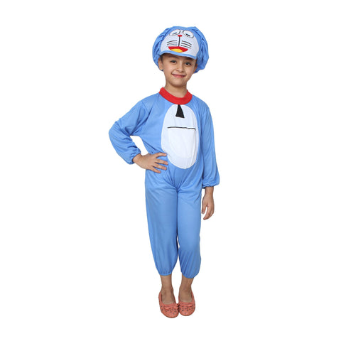 Blue Color Cotton Blend Fancy Costume Dress  - Doramon-1