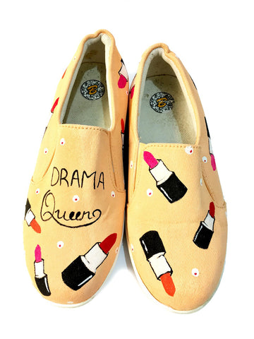 Multi Color  Canvas Unisex Shoe - Drama-QueenSlip-On-4