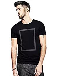 Black Color Round Neck Poly Cotton Regular Fit Men T-Shirt - EG-020