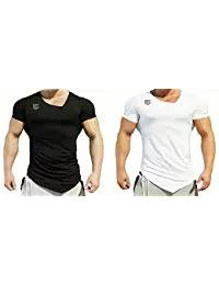 Black and White Gym Men Combo T-Shirt - EG-025