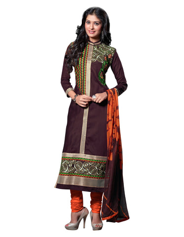 Purple Color Cambric Cotton Semistitched Salwar  - ELGT0237