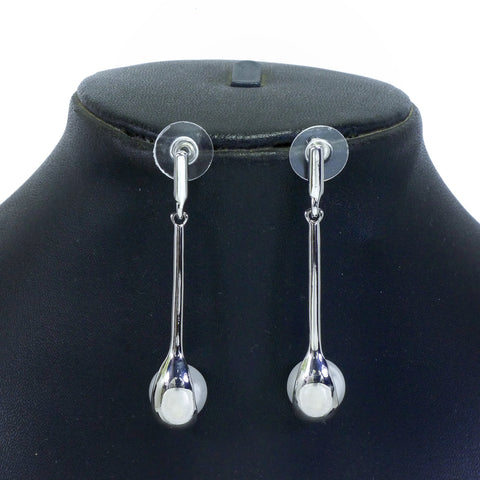Silver Color Alloy Earrings - ER0010