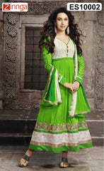 Green Color Georgette Dress Material