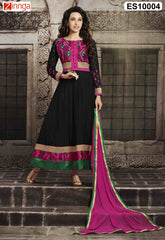 Black Color Georgette Dress Material