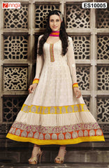 Beige  Color Georgette Dress Material