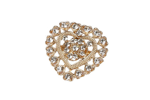 eSmartDeals-White Color Crystal Zink Alloy Brooch-ESD3805
