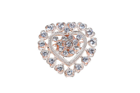eSmartDeals-White Color Crystal Zink Alloy Brooch-ESD3984