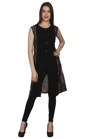 URSENSE-Black Color Hosery Shrug-ETE-7128
