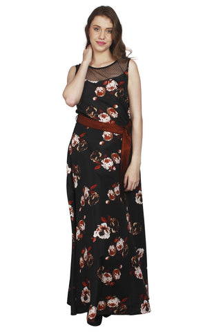 URSENSE-Multi Color Crepe Dress - ETE-7136
