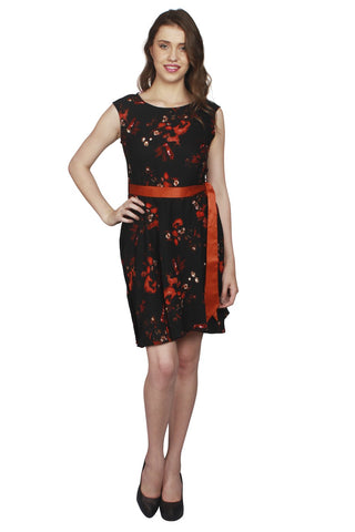 URSENSE-Multi Color Crepe Dress - ETE-7138