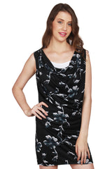 URSENSE-Black Color Polyester Dress - ETE-7139