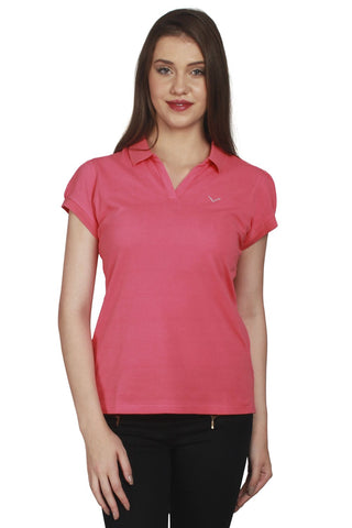 URSENSE-Pink Color Hosery Top-ETE-7143-Pnk