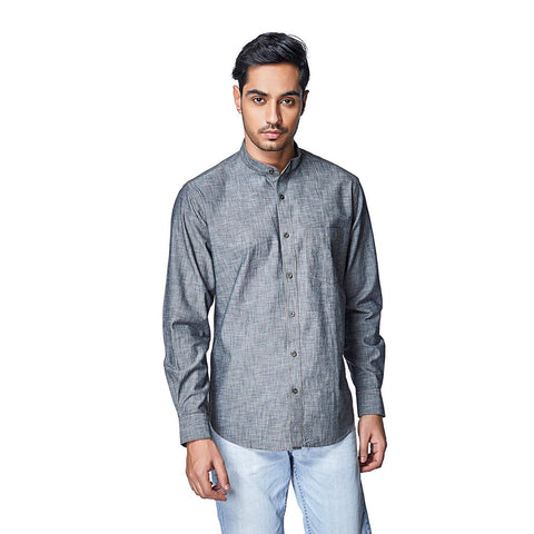 Grey Color Cotton Mens Shirt - OliveGray