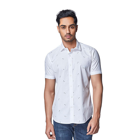 White Color Cotton Mens Shirt - WhiteFlutters