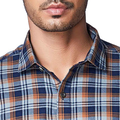 Brown Color Cotton Mens Shirt - SummerOchre
