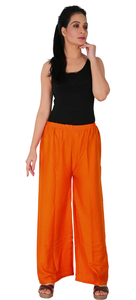 Orange Color Rayon Palazzo