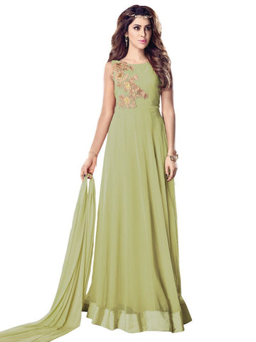Pista Color Georgette Un Stitched Salwar - F1086