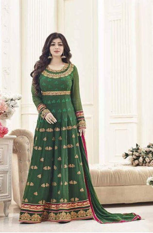 Green Color Georgette Salwar - F1115