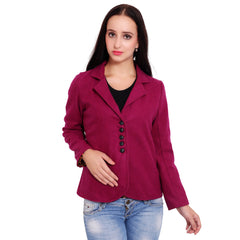 FBBIC-Women's Beautiful Winterwear Pink purple Color woolen coat - FBBIC 18276- 1