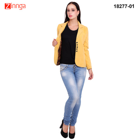 FBBIC-Women's Beautiful Winterwear Yellow Color woolen coat - FBBIC 18277- 1