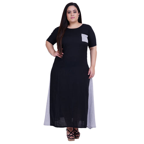 Black Color Rayon Women's Stitched Kurti - FBW_38