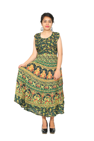 Multi Color Rayon Stitched Kurti - FDR1202652