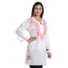 FEMEZONE-Women's Beautiful Stitched Cotton Kurti - FEM1032