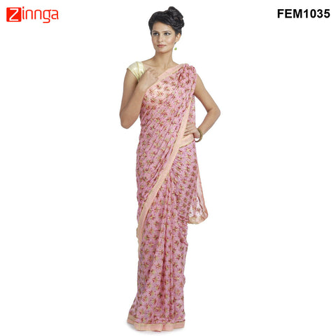 FEMEZONE-Women's Beautiful Chiffon Saree  - FEM1035
