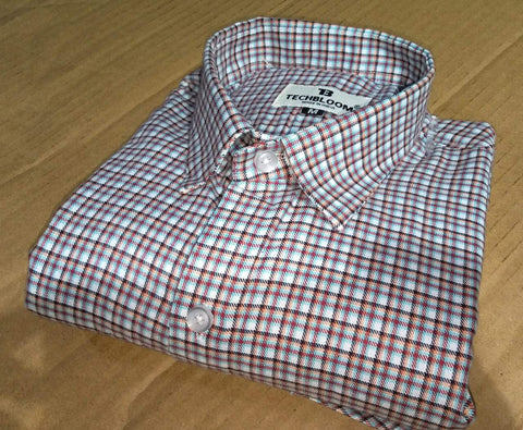 Multi Color Cotton Men's Checkered Shirt - FF0081