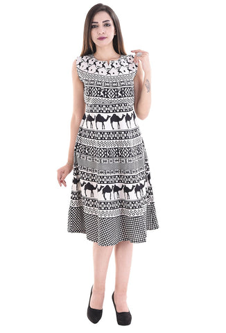 Multi Color Cotton Stitched Dress - FMD03