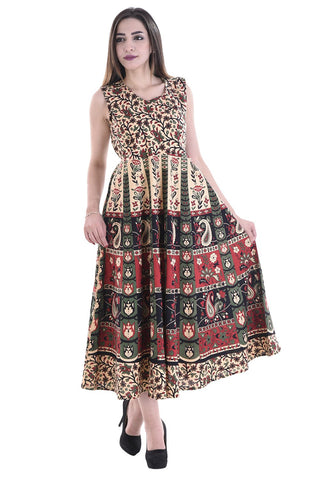 Multi Color Cotton Stitched Dress - FMD07