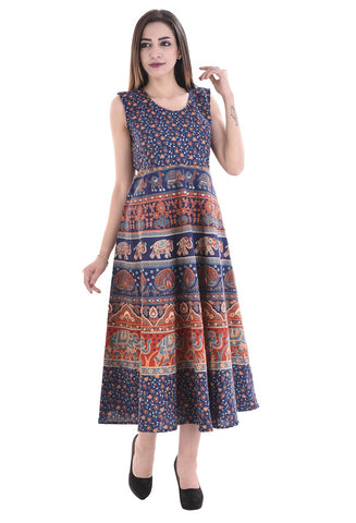 Multi Color Cotton Stitched Dress - FMD08