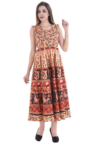 Multi Color Cotton Stitched Dress - FMD10