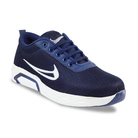 Blue Color Mesh Men's Sports Shoes - FOAI_m