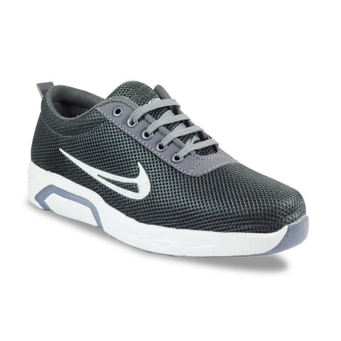 Grey Color Mesh Men's Sports Shoes - FOAI_n