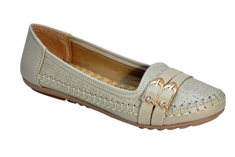 Beige Color Synthetic Women's Bellies - FROBIE-06